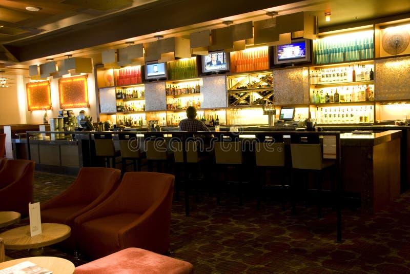 Ristorante del bar di hotel immagini stock libere da diritti