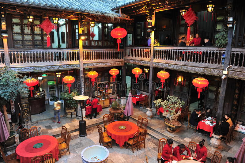 Ristorante del cinese tradizionale fotografie stock libere da diritti