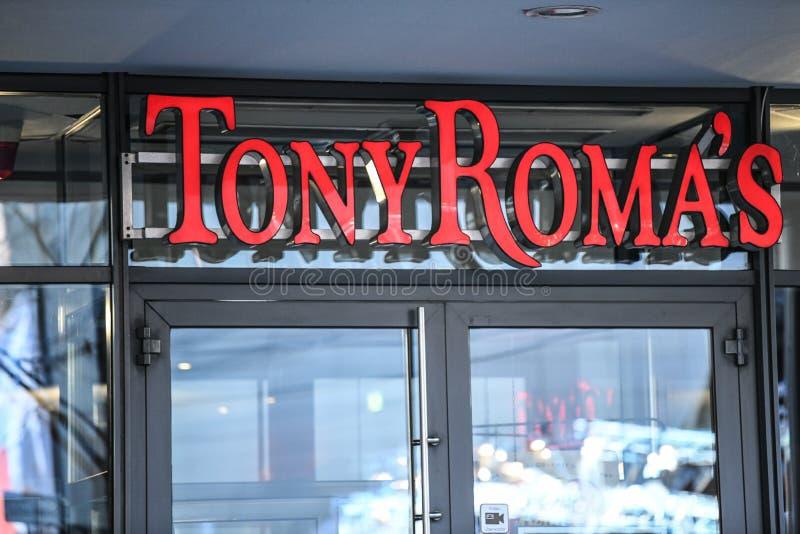 Ristorante del ` s di Tony Roma a Berlino, Germania fotografia stock libera da diritti