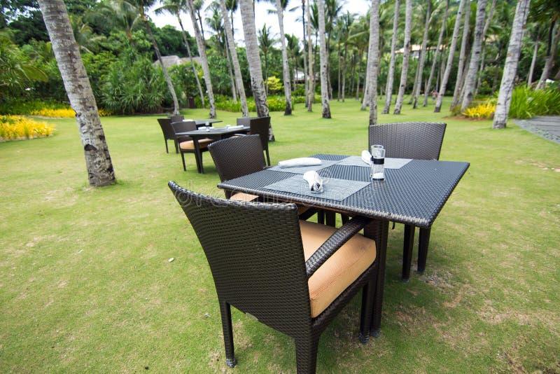 Ristorante della località di soggiorno sulla spiaggia, Boracay fotografia stock