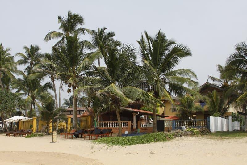 Ristorante della spiaggia dello Sri Lanka fotografia stock libera da diritti