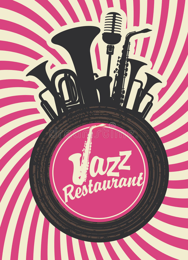 Ristorante di jazz illustrazione di stock