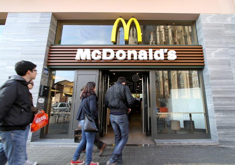 Ristorante di McDonald's immagine stock libera da diritti