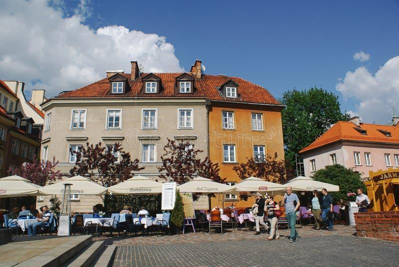 Ristorante e pub in vecchia città Varsavia fotografia stock