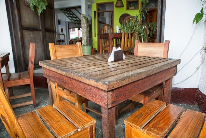 Ristorante in Flores Guatemala fotografie stock libere da diritti