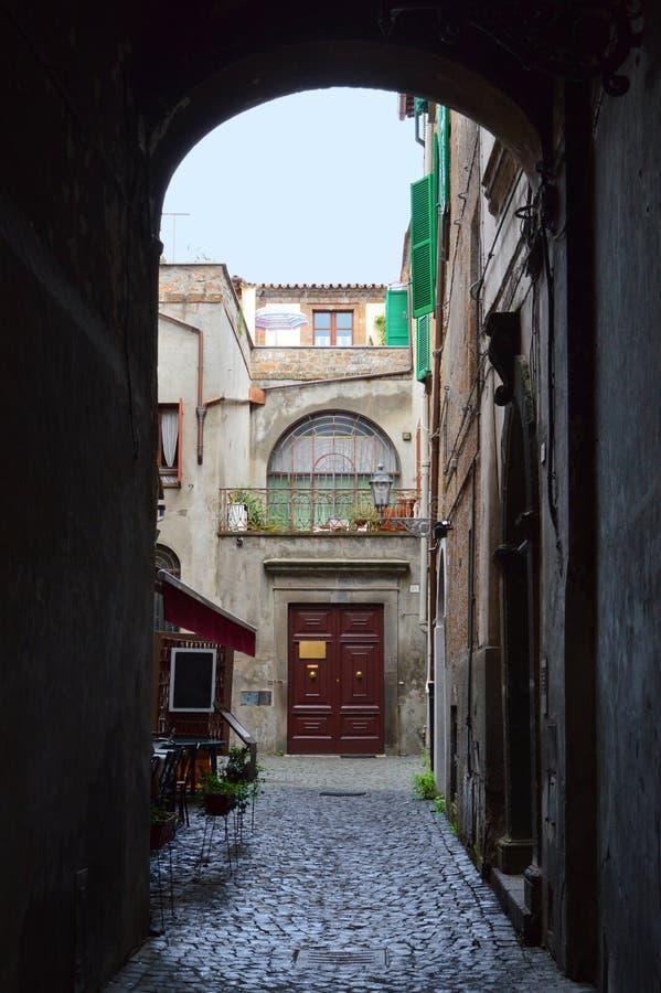 Ristorante italiano della plaza fotografia stock libera da diritti