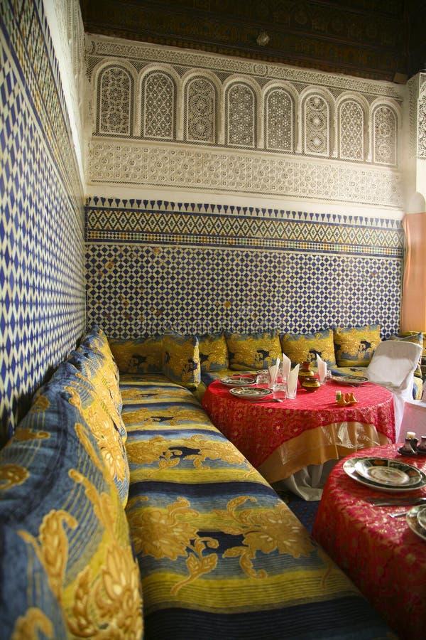 Ristorante a Marrakesh fotografie stock