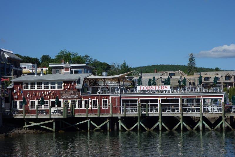 Ristorante portuale dell'aragosta nel porto storico di Antivari immagine stock libera da diritti