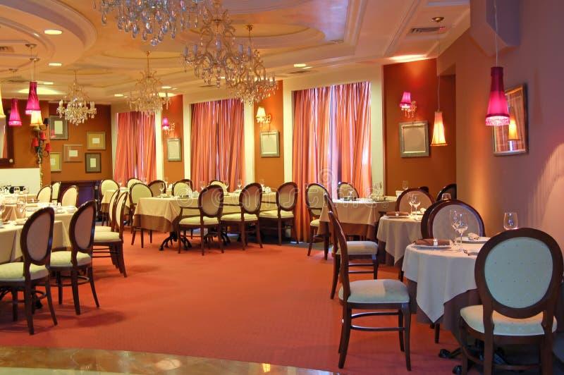 ristorante rosso interno immagine stock