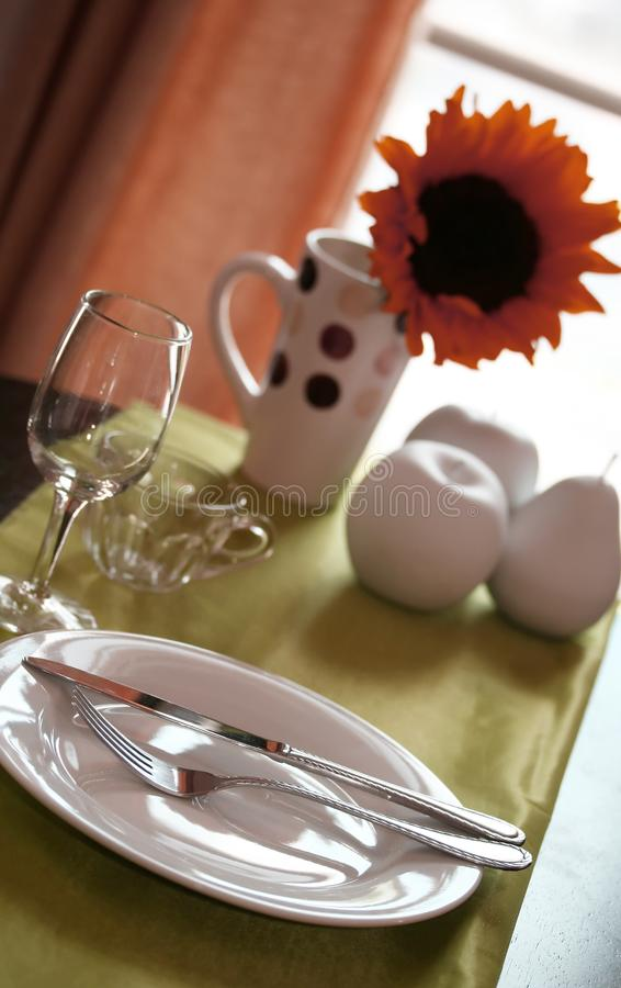 Sunny Restaurant fotografia stock