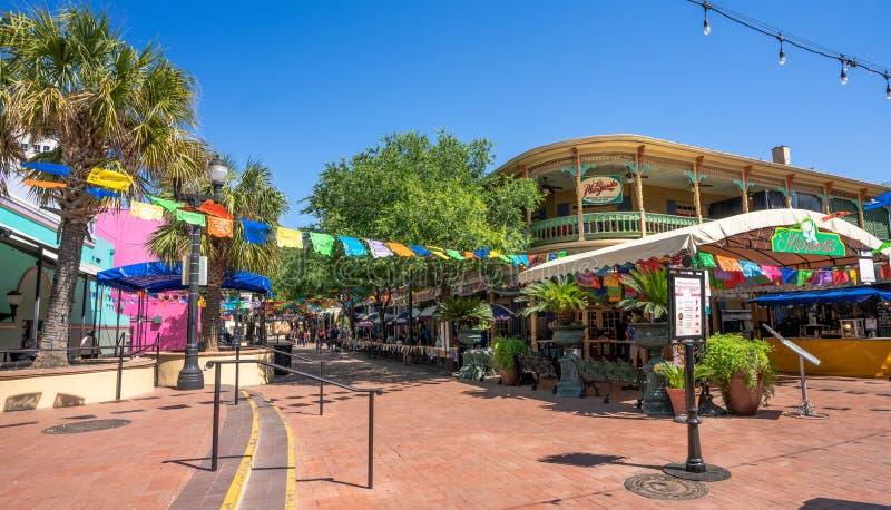 Ristoranti storici di San Antonio Market fotografia stock