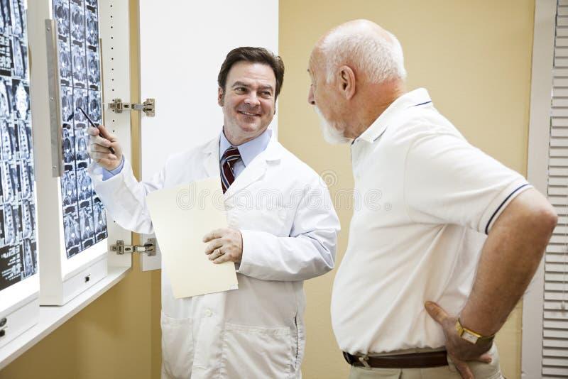 Risultati della prova del dottore Exlplains immagine stock libera da diritti