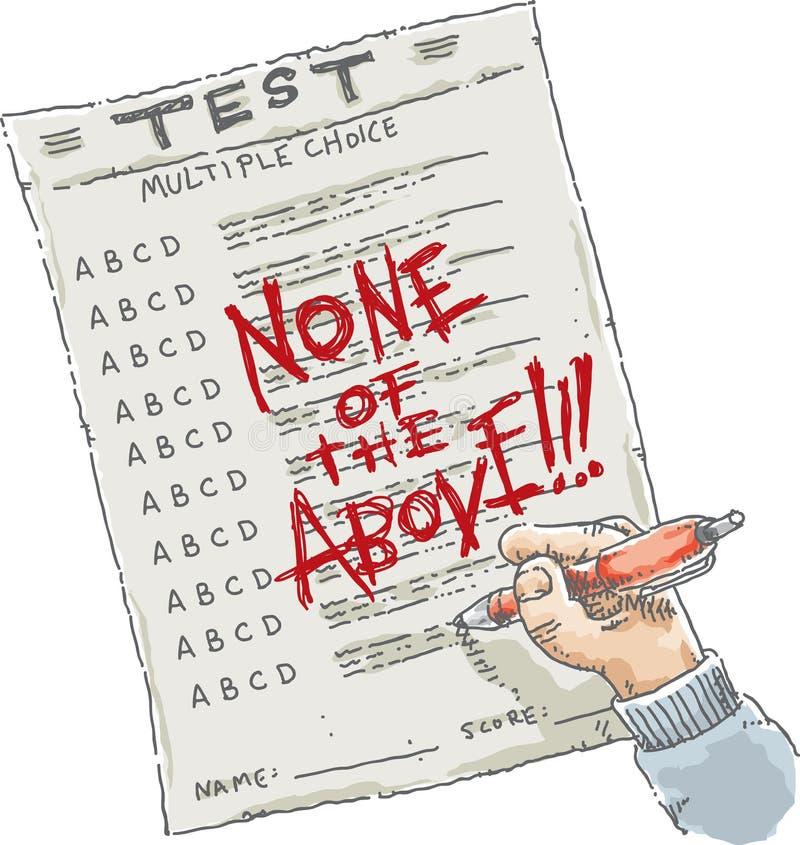 Risultato dei test illustrazione vettoriale