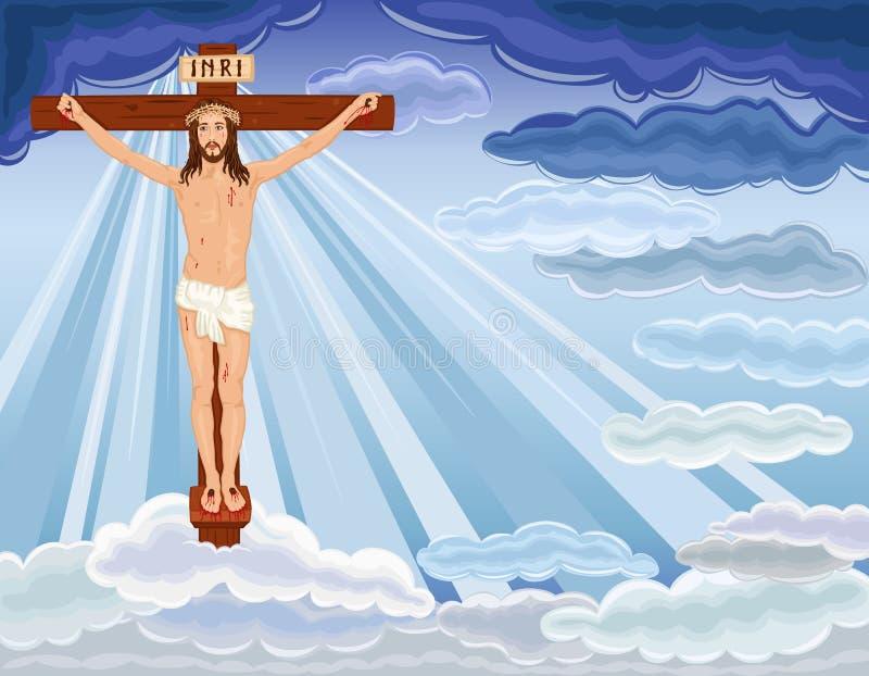 Risurrezione del Gesù Cristo illustrazione vettoriale