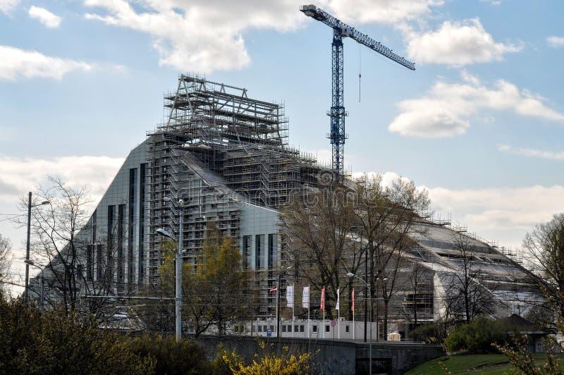 RIt est construit à la nouvelle Bibliothèque nationale letton photos libres de droits