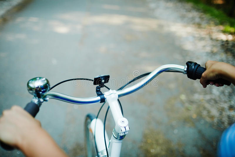 Rit op cyclus stock foto's