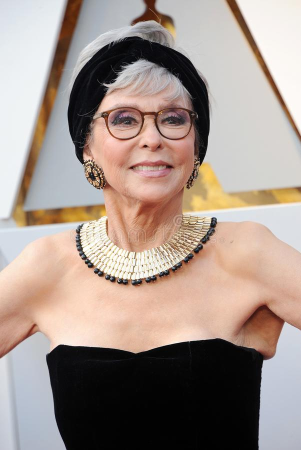Rita Moreno. At the 90th Annual Academy Awards held at the Dolby Theatre in Hollywood, USA on March 4, 2018 royalty free stock photos