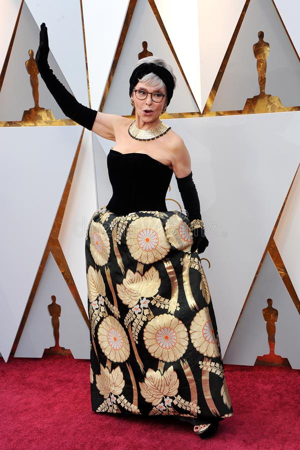 Rita Moreno. At the 90th Annual Academy Awards held at the Dolby Theatre in Hollywood, USA on March 4, 2018 stock photos