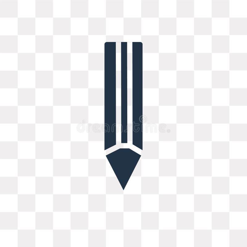 Rita vektorsymbolen som isoleras på genomskinlig bakgrund, blyertspenna t royaltyfri illustrationer