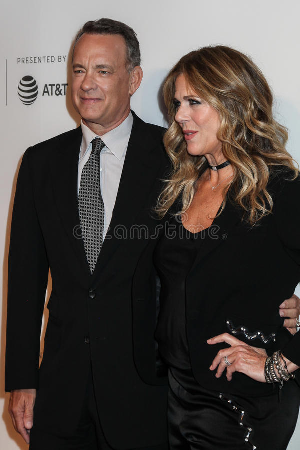 Rita Wilson e Tom Hanks fotografie stock