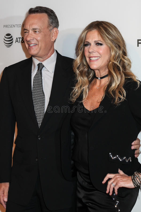 Rita Wilson et Tom Hanks photos libres de droits
