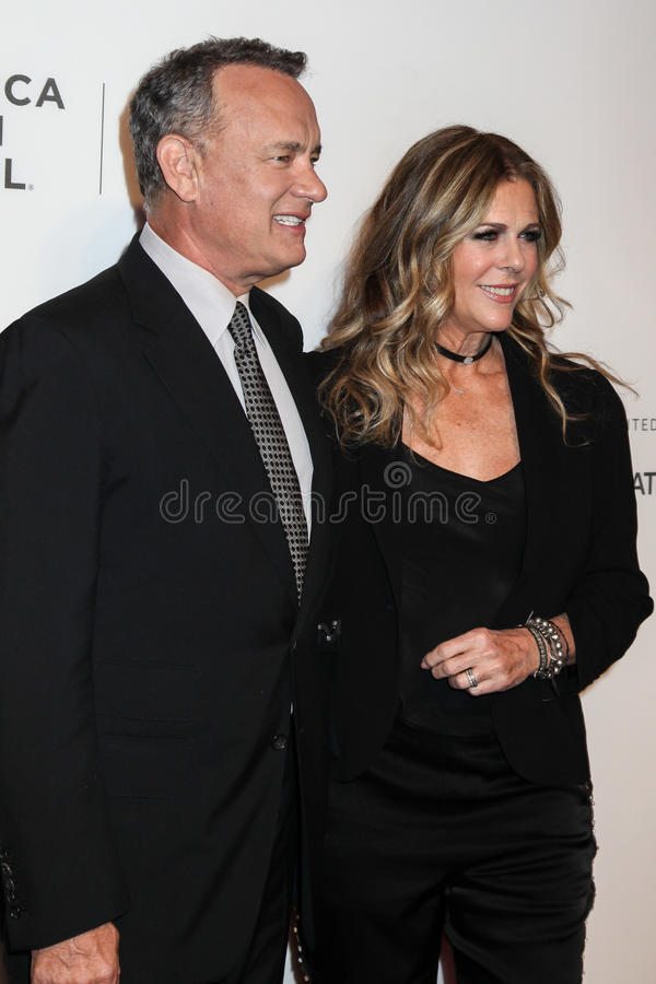 Rita Wilson et Tom Hanks photo stock
