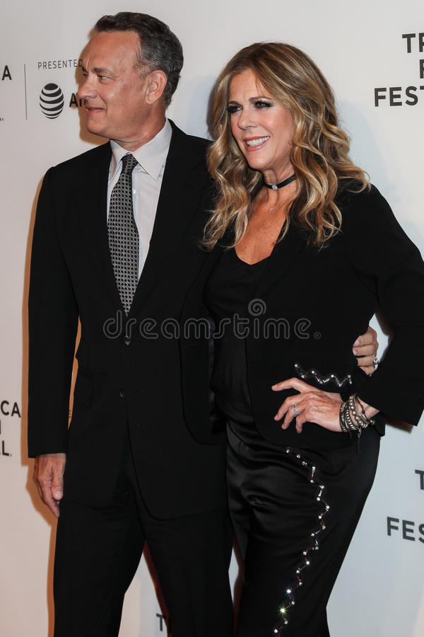 Rita Wilson et Tom Hanks photographie stock