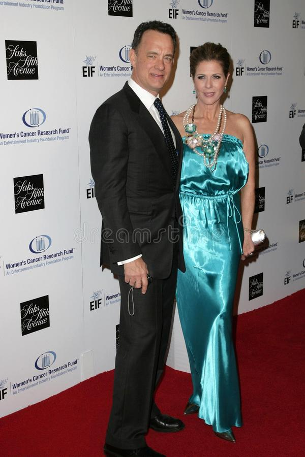 Rita Wilson, Tom Hanks images stock