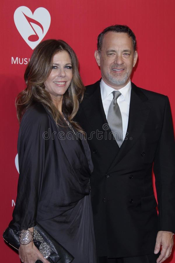 Rita Wilson, Tom Hanks fotografie stock