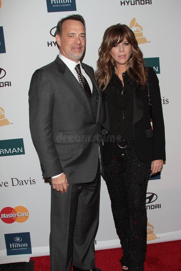 Rita Wilson, Tom Hanks image libre de droits