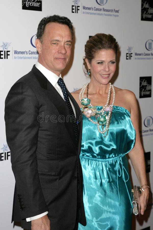 Rita Wilson, Tom Hanks stock image