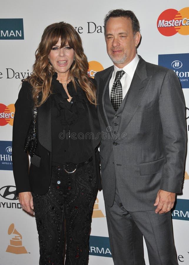 Rita Wilson, Tom Hanks fotografia stock libera da diritti