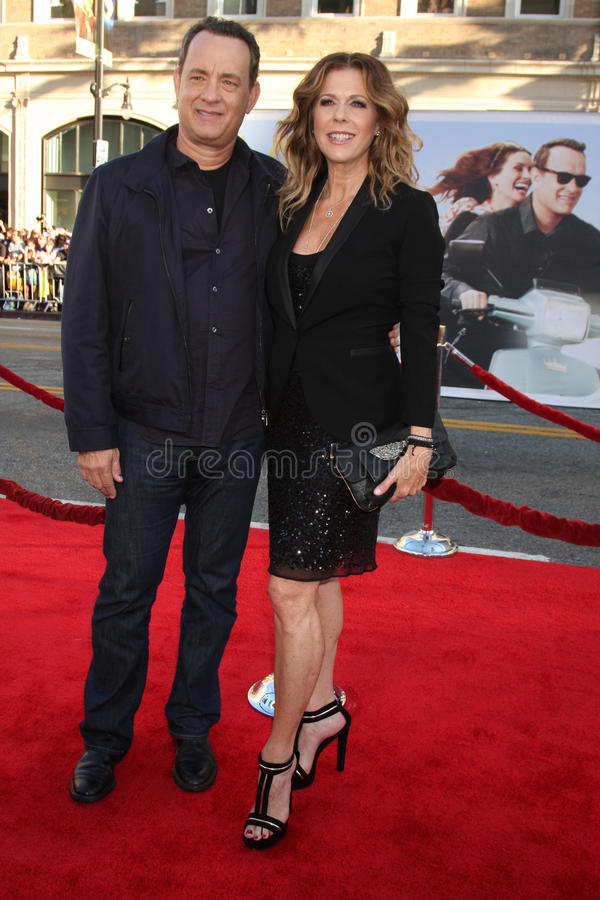 Rita Wilson, Tom Hanks stock foto