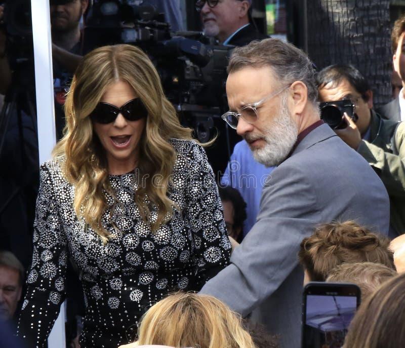 Rita Wilson Tom Hanks images stock