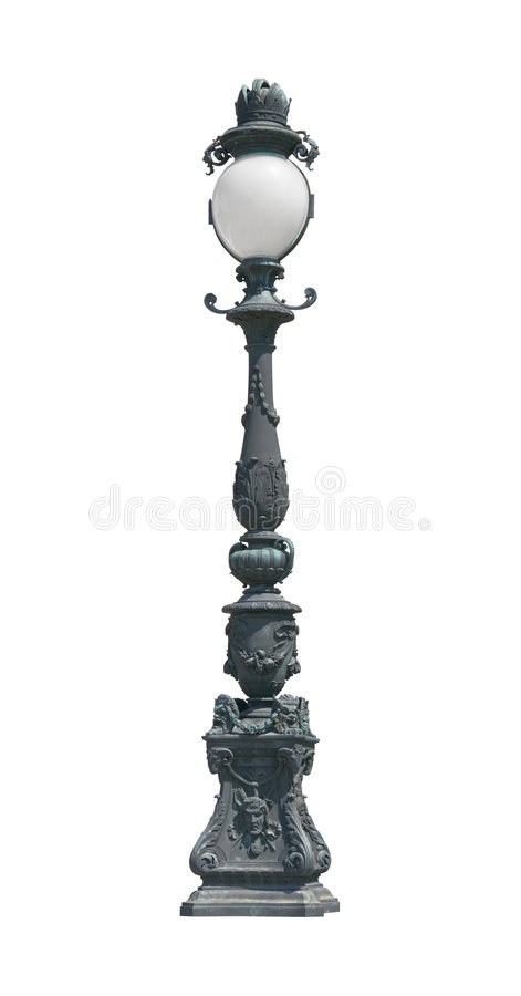 Ritaglio dell'alberino della lampada dell'indicatore luminoso di via fotografie stock libere da diritti