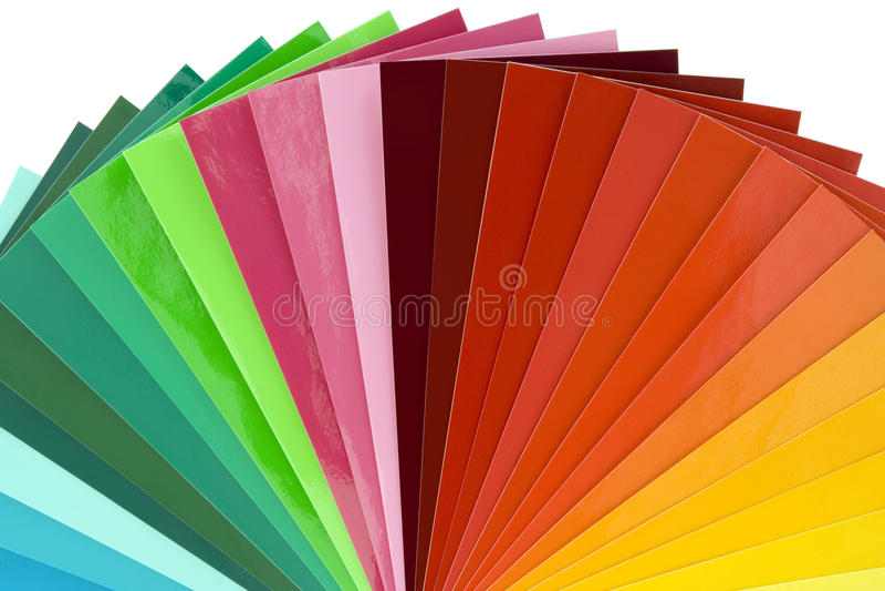 Ritaglio della scala di colore fotografia stock libera da diritti