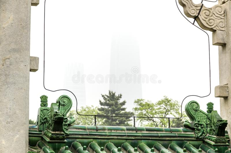 Ritan and International Trade Skyscraper stock photography