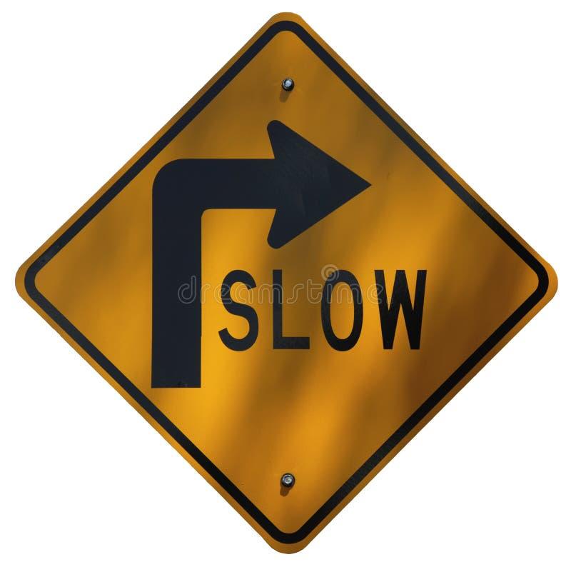 Ritardi - le curve stradali a destra immagine stock