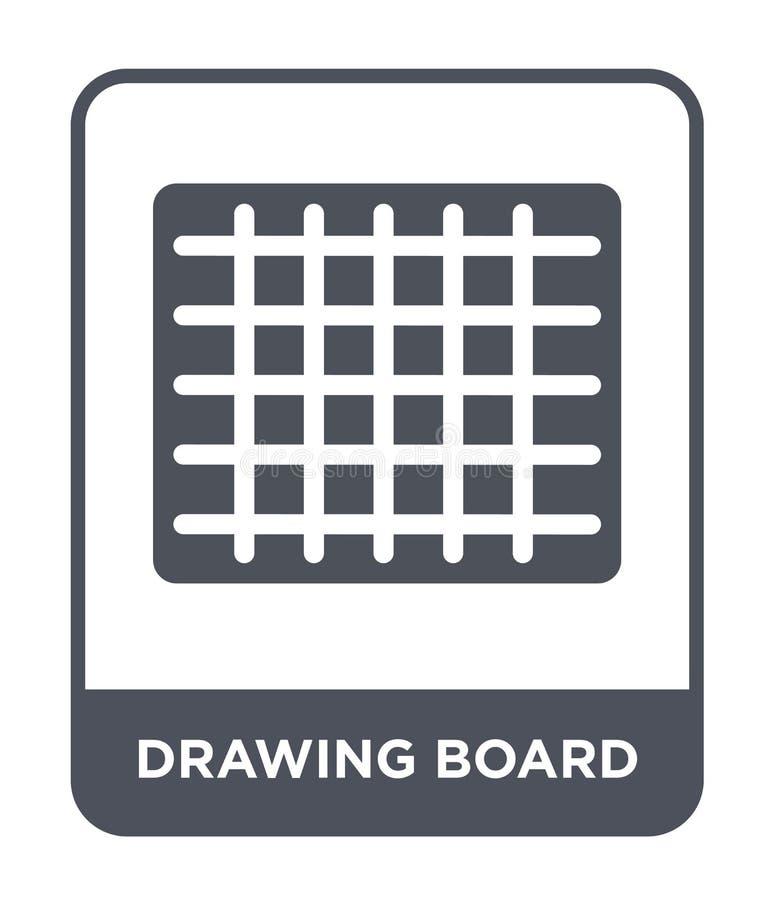 ritbordsymbol i moderiktig designstil ritbordsymbol som isoleras på vit bakgrund enkel ritbordvektorsymbol och vektor illustrationer