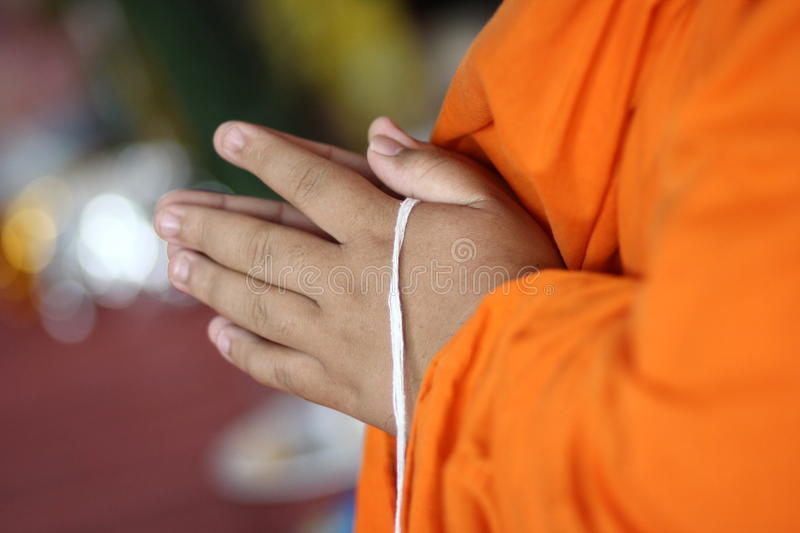 Download Rite of Buddhism stock photo. Image of robe, hand, yellow - 32007734