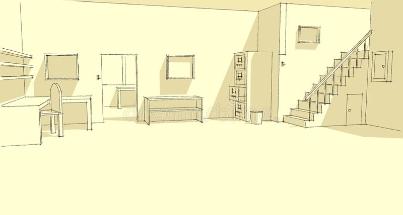 ritkontor vektor illustrationer