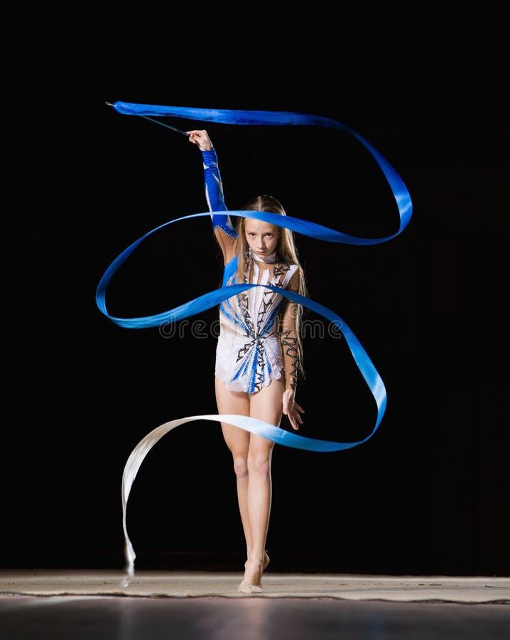 Ritmische gymnastiek stock afbeelding