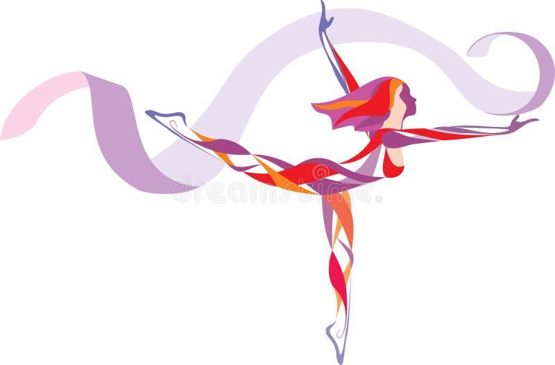 Ritmische gymnastiek stock illustratie
