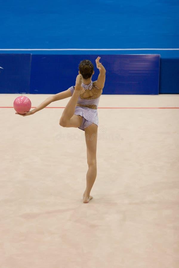 Ritmische Gymnastiek stock fotografie