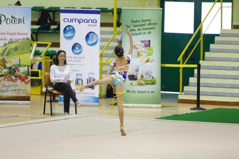 Ritmische Gymnastiek- stock afbeelding