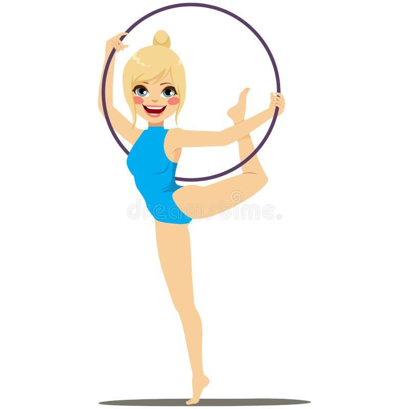 Ritmische Gymnastiekhoepel vector illustratie