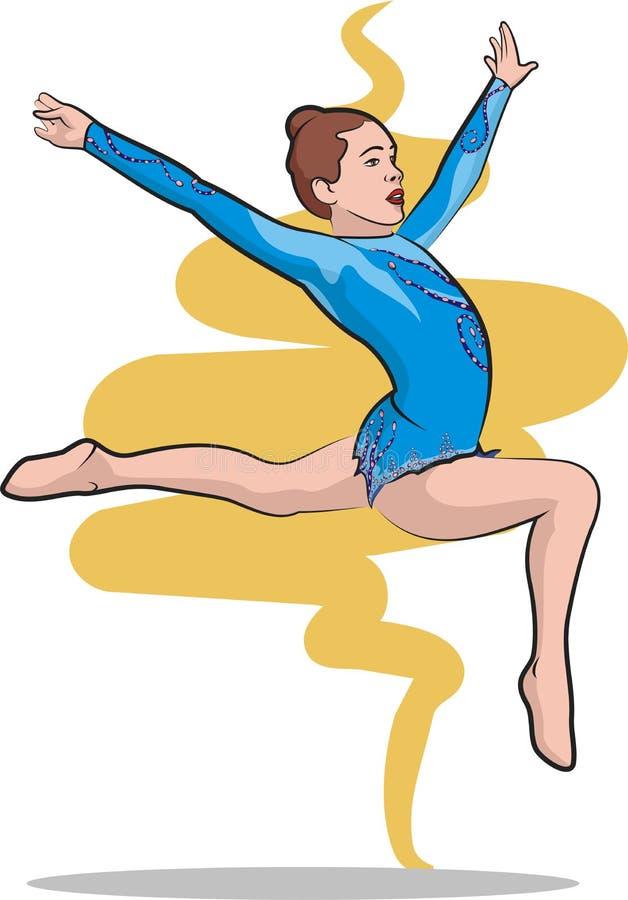 Ritmische vrije gymnastiek - royalty-vrije illustratie