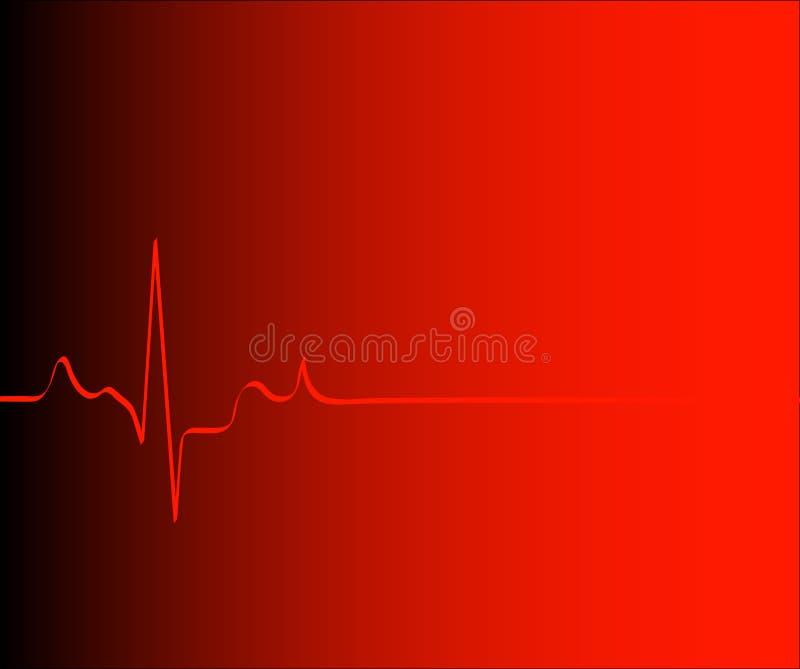 Ritmo del corazón o rojo del gradiente stock de ilustración