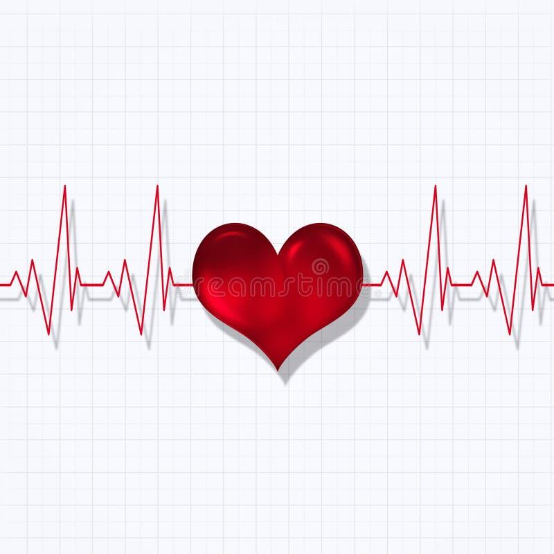 Ritmo do pulso do coração ilustração stock