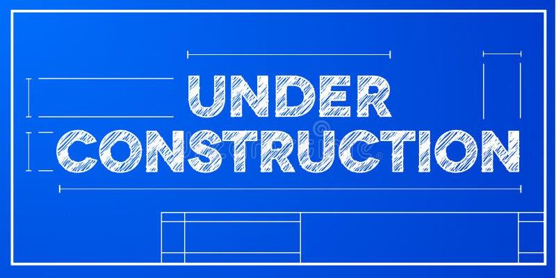 Ritningbegrepp under konstruktion stock illustrationer